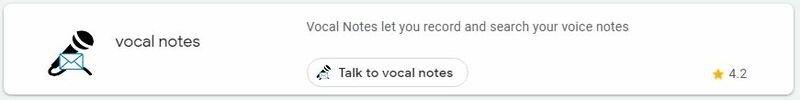 Google Assistant Productivity Vocal Notes