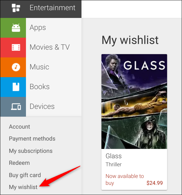 To access your Wishlist, click My Wishlist from the sidebar on the left
