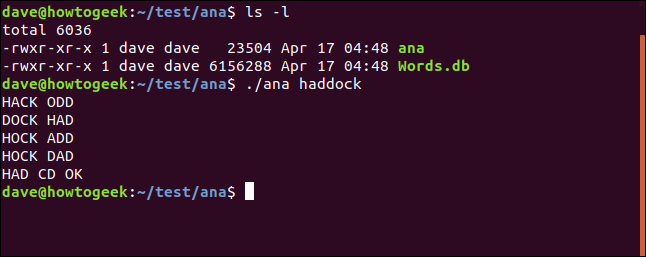 test of ana utility in /test/ana directory