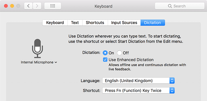 Hey Siri Old Macs Enable Dictation