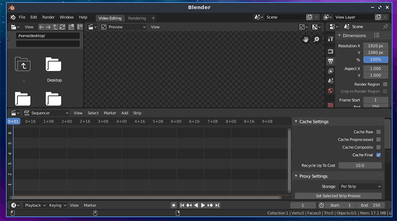 Linux Ubuntu Video Editors Blender