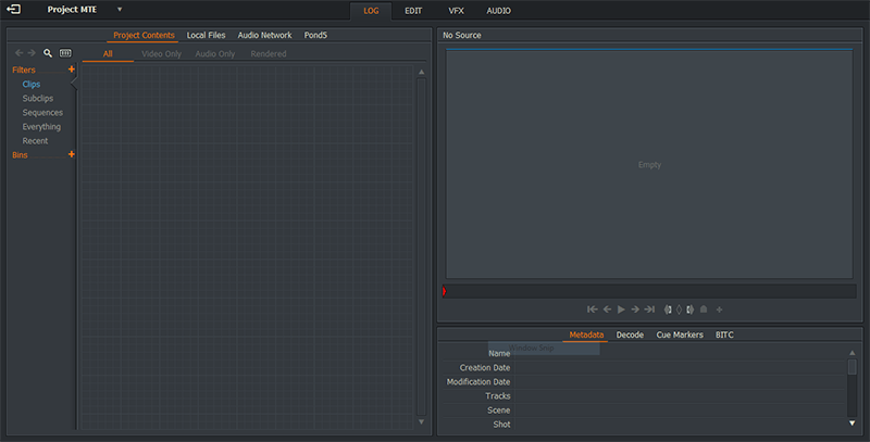Linux Video Editing Lightworks
