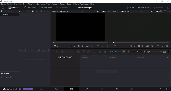 Linux Video Editors Davinci Resolve