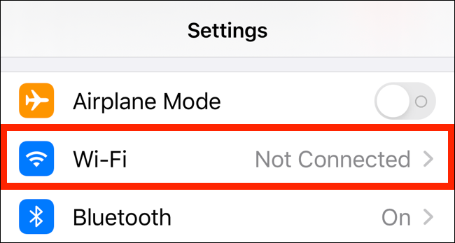 Tap on Wi-Fi option in Settings page
