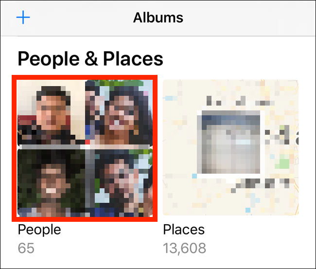 Tap on the People album from the Albums tab
