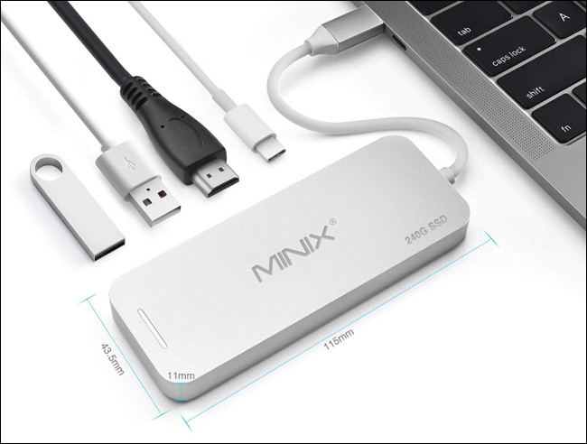 Minix NEO USB Type-C hub with integrated SSD storage